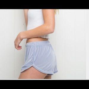 Brandy Melville Velvet Lisette Shorts